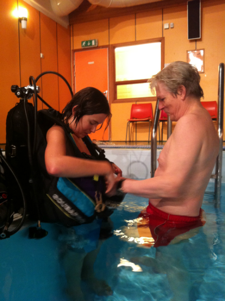 Kurs i dykking med luftflaske i Skimmelandstunet